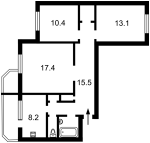 Квартира Булаховського Академіка, 5а, Київ, Z-101134 - Фото2