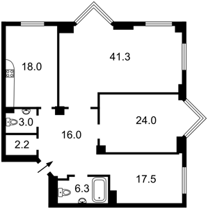 Квартира Драгомирова Михаила, 14а, Киев, Z-599824 - Фото2