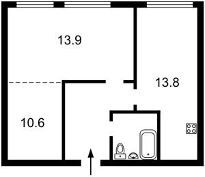 Квартира Липкивского Василия (Урицкого), 33а, Киев, D-35841 - Фото2