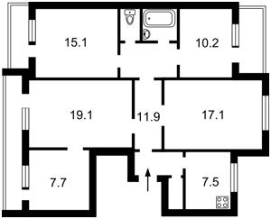 Квартира Северная, 54в, Киев, Z-594388 - Фото2