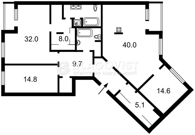 Квартира R-30903, Патриарха Скрипника (Островского Николая), 40, Киев - Фото 8