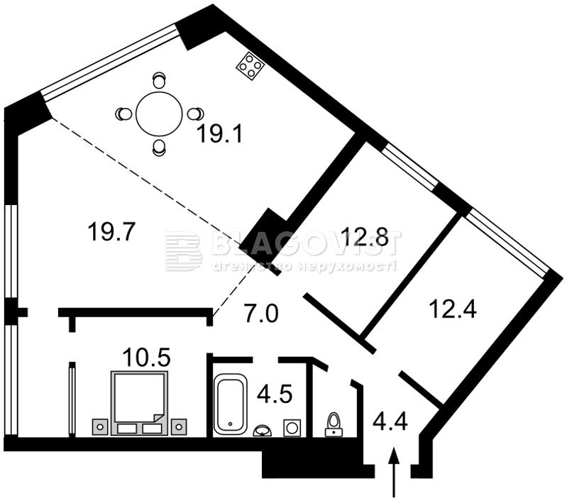 Квартира D-35861, Липківського Василя (Урицького), 16г, Київ - Фото 3