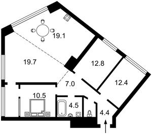 Квартира Липківського Василя (Урицького), 16г, Київ, D-35861 - Фото2