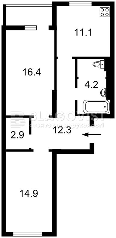Квартира Z-599107, Вернадского Академика бульв., 59, Киев - Фото 2