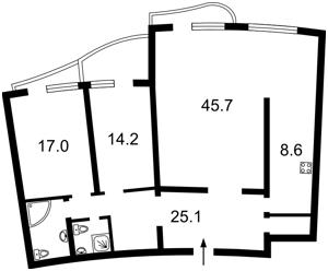 Квартира Мельникова, 18б, Київ, F-42604 - Фото2
