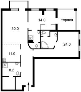 Квартира Гончара О., 35, Київ, Z-822525 - Фото 2