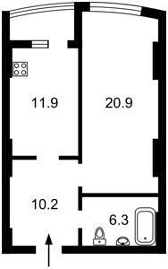 Квартира Победы просп., 131, Киев, A-79469 - Фото 2