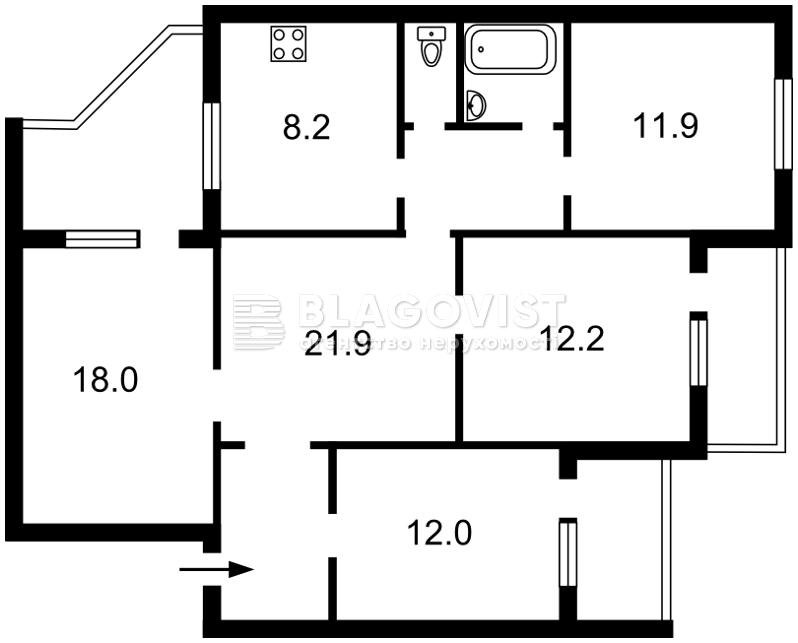 Квартира C-107195, Академика Палладина просп., 13, Киев - Фото 4