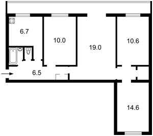 Квартира Плеханова, 4а, Київ, Z-584297 - Фото2