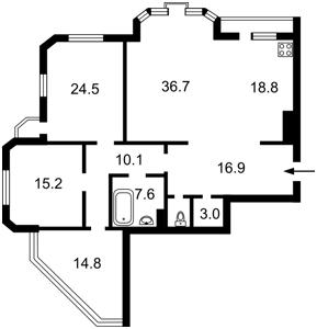 Квартира Коновальца Евгения (Щорса), 32б, Киев, R-29774 - Фото2
