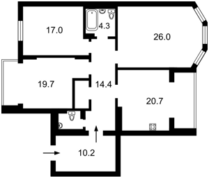Квартира Амосова Николая, 4, Киев, Z-560005 - Фото2