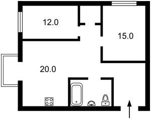 Квартира Строителей, 12, Киев, Z-534579 - Фото2