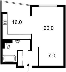 Квартира Сикорского Игоря (Танковая), 4г, Киев, Z-621346 - Фото2