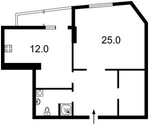 Квартира Руданського Степана, 3а, Київ, Z-588217 - Фото2