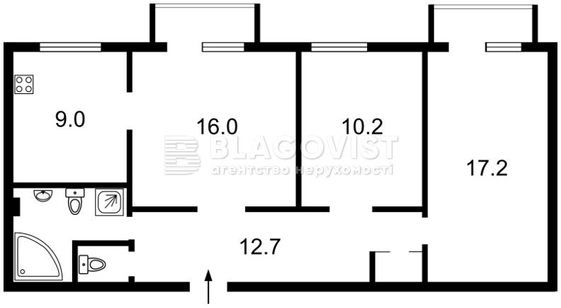 Квартира A-110948, Никольско-Ботаническая, 7/9, Киев - Фото 3