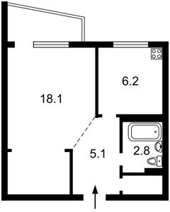 Квартира Гусовського, 2, Київ, R-31124 - Фото2