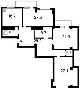 Квартира Драгомирова, 5, Київ, Z-617137 - Фото2