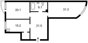 Квартира Антоновича (Горького), 131, Киев, H-46172 - Фото 2