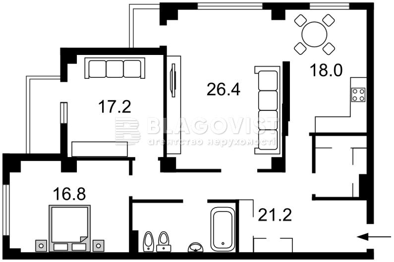 Квартира C-107270, Шумського Юрія, 1б, Київ - Фото 4
