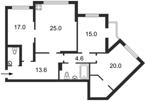 Квартира Княжий Затон, 21, Киев, M-37029 - Фото2