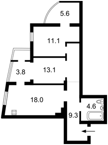 Квартира Леси Украинки бульв., 7а, Киев, Z-357339 - Фото2