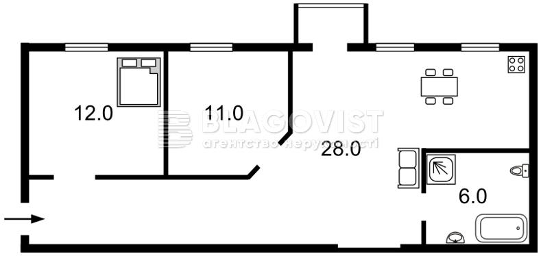 Квартира D-35862, Михайловский пер., 14, Киев - Фото 2