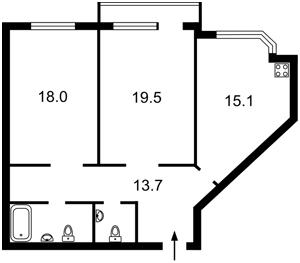 Квартира Мишуги О., 8, Київ, Z-622741 - Фото2