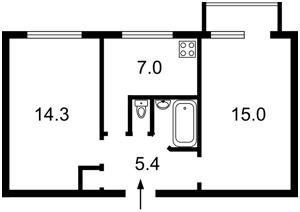 Квартира Депутатская, 32, Киев, Z-576260 - Фото2