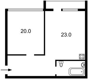 Квартира Федорова Івана, 2а, Київ, Z-631630 - Фото2