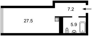 Квартира Тимошенка Маршала, 21/19, Київ, D-35938 - Фото2