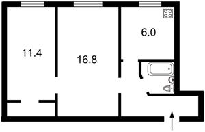 Квартира Маричанська (Бубнова Андрія), 10, Київ, Z-340078 - Фото2