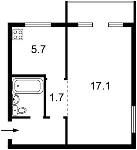 Квартира Василенка Миколи, 6б, Київ, C-107362 - Фото2
