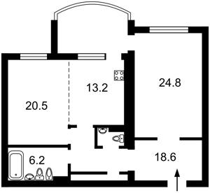 Квартира Героїв Сталінграду просп., 6б, Київ, R-31505 - Фото2