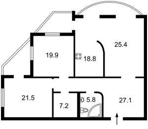 Квартира Героїв Сталінграду просп., 12д, Київ, X-25147 - Фото2