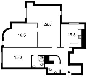 Квартира Калнишевского Петра (Майорова М.), 6, Киев, Z-629399 - Фото2