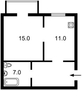 Квартира Пушиної Ф., 23, Київ, Z-511606 - Фото2