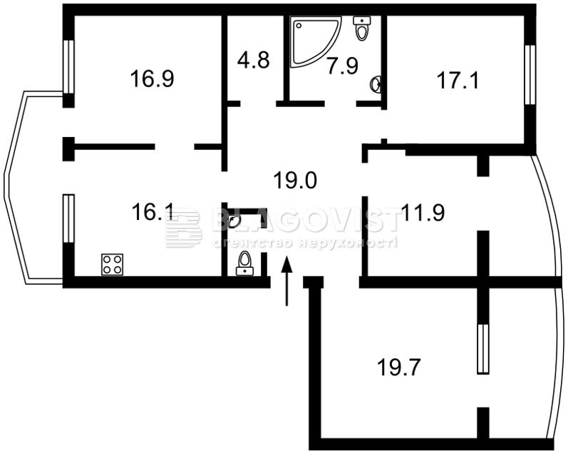Квартира Z-483053, Борщаговская, 30а, Петропавловская Борщаговка - Фото 9