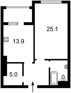 Квартира Драгомирова Михаила, 17, Киев, Z-630701 - Фото2