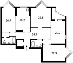 Квартира Коновальця Євгена (Щорса), 32г, Київ, M-37182 - Фото2