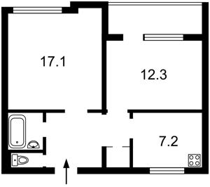 Квартира Антоновича (Горького), 104, Киев, M-37191 - Фото2
