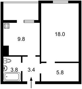 Квартира Закревского Николая, 97а, Киев, H-46518 - Фото2