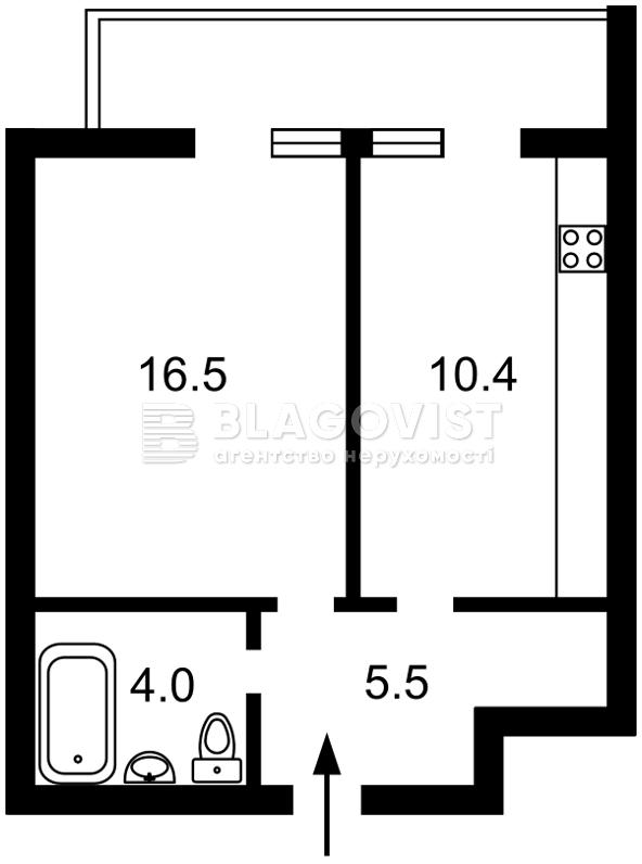Квартира A-111082, Кавалеридзе Ивана, 11, Киев - Фото 2