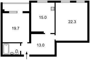 Квартира Липинского Вячеслава (Чапаева), 12, Киев, R-30620 - Фото2