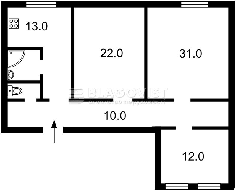 Квартира Z-516875, Хмельницкого Богдана, 9б, Киев - Фото 6