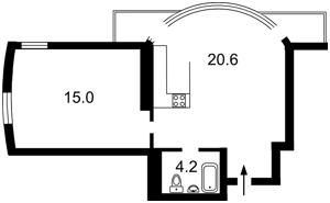 Квартира Вышгородская, 45, Киев, E-39213 - Фото2