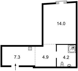 Квартира Коперника, 3, Київ, Z-637989 - Фото2