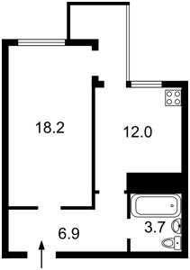 Квартира Осокорська, 2а, Київ, F-43048 - Фото2