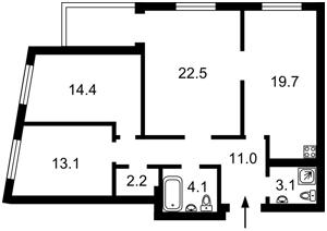 Квартира Жмаченка Ген., 4, Київ, Z-642103 - Фото2