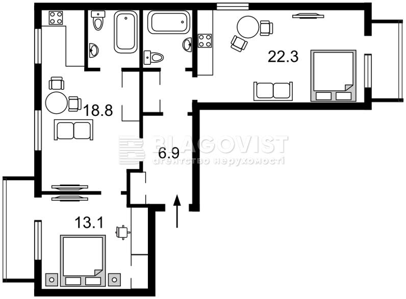 Квартира F-43052, Шовковична, 48, Київ - Фото 4