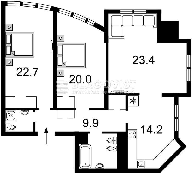 Квартира Z-648525, Дмитриевская, 82, Киев - Фото 5